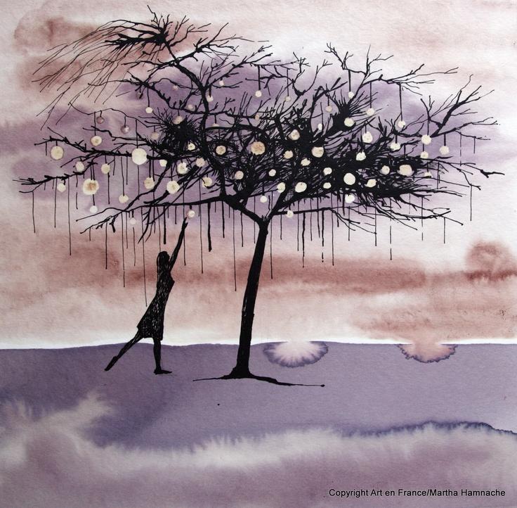 Vinorel(painted with wine).  http://www.art-en-france.eu/blandinevannoordt.html