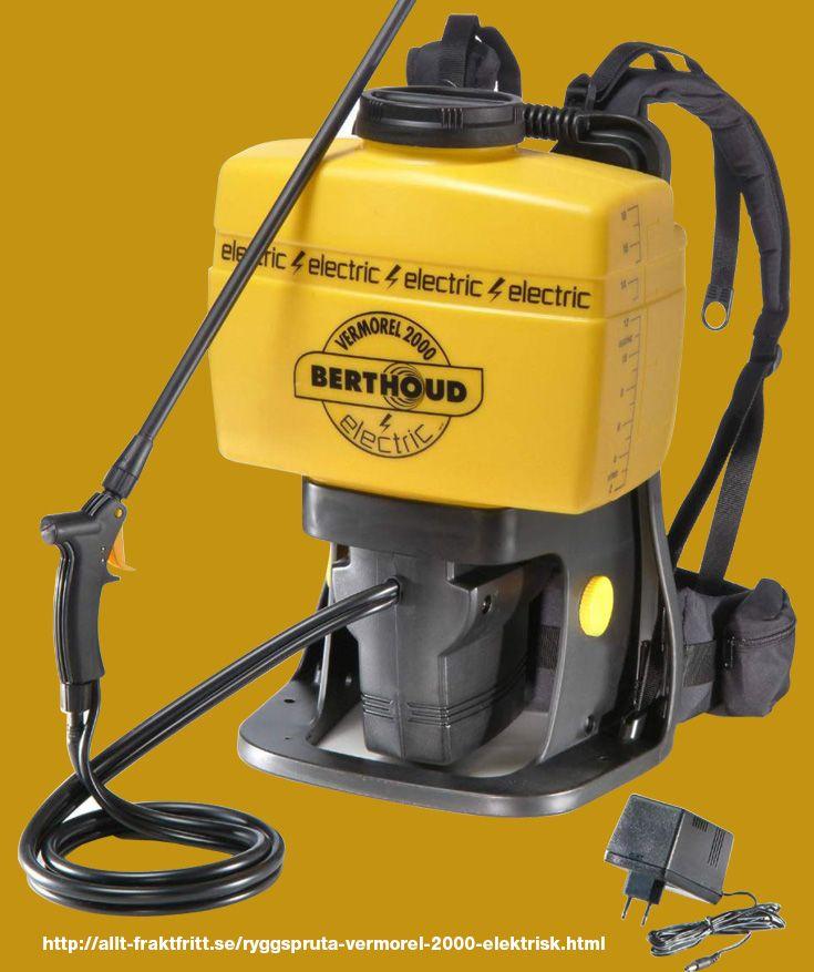Ryggspruta Berthoud Vermorel 2000 Elektrisk - En underbar elektrisk proffsspruta att jobba med.   Samma tryck hela tiden och man behöver inte pumpa. Skall Du springa på tak så måste sprutan vara elektrisk för att slippa olyckor. Om man vill öka eller mins
