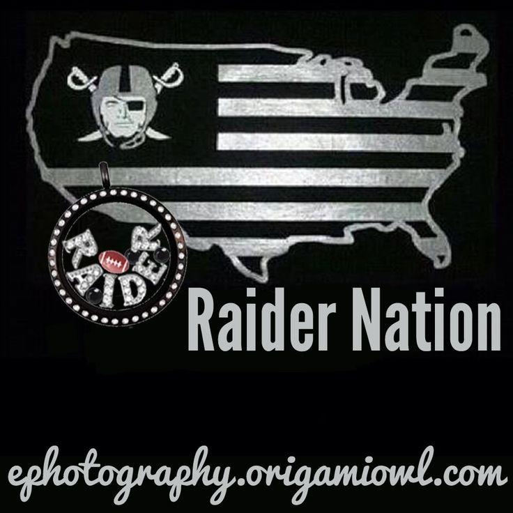 Oakland Raider Locket - Origami Owl  Brandi Walstrom~ Origami Owl Independent Designer #43365. Visit my website at: www.brandiw.origamiowl.com. Like my Facebook Fan Page at: https://www.facebook.com/charmingbrandi