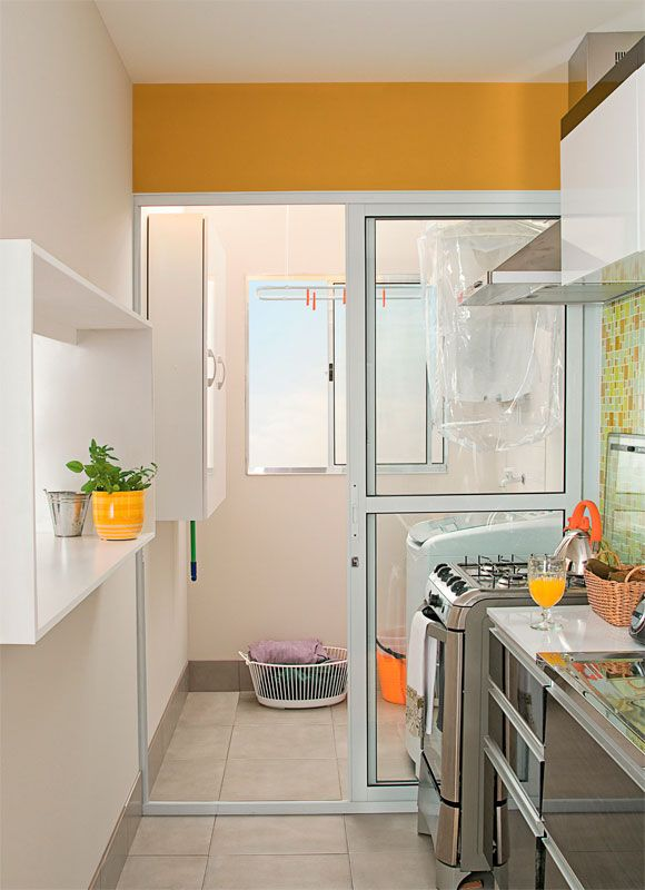 20 áreas de serviço pequenas e organizadas - Casa