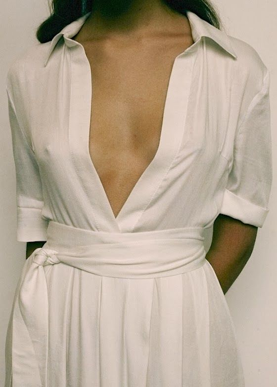 More plunging necklines here - http://dropdeadgorgeousdaily.com/2014/02/plunging-necklines/