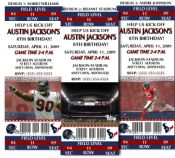 8 NFL Houston Texans Football Birthday Party Ticket Invitations