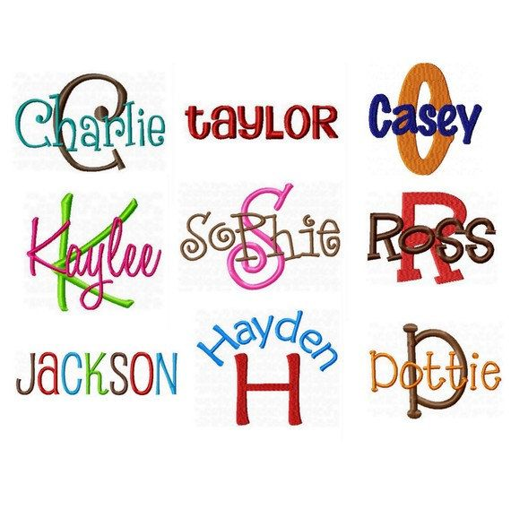 All Embroidery Fonts Pack - Alphabet Designs on Etsy, $35.00