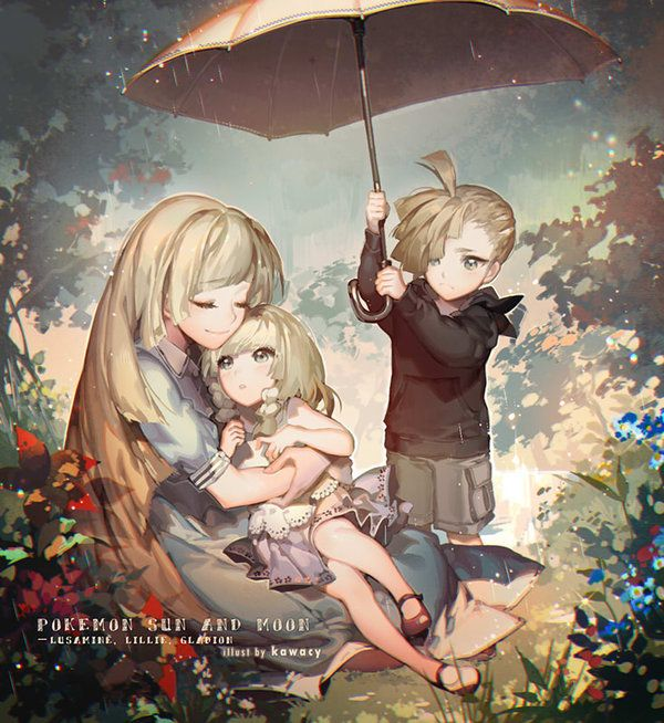 The once happy family... But no matter what, family is forever and for always. —Lusamine, Lillie, and Gladion from Pokemon Sun and Moon.