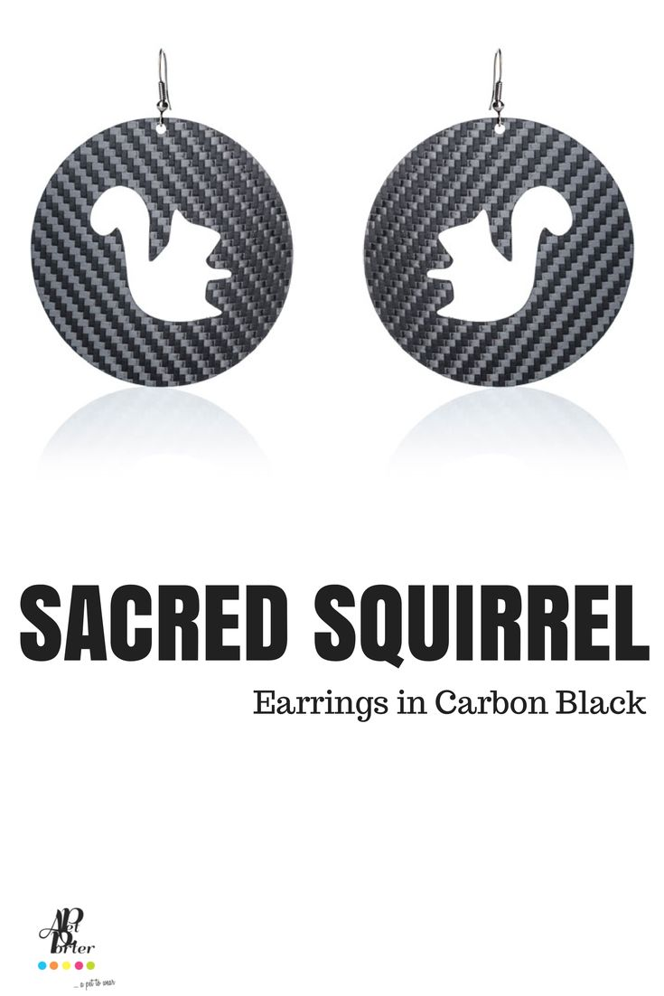 Ultra light plastic earrings in carbon black color.