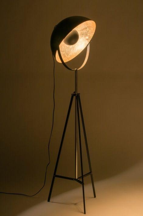 Vloerlamp 72238: Modern, Eigentijds Klassiek, Retro, Goud