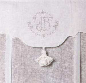 store de charme brod 60x120 cm store rideau pour maison cosy broderie grise tunnel passe. Black Bedroom Furniture Sets. Home Design Ideas