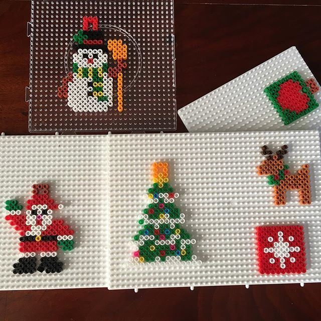 Christmas ornaments hama beads by cha068