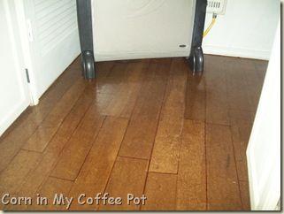 """Brown paper bag """"wood"""" floor tutorial"""