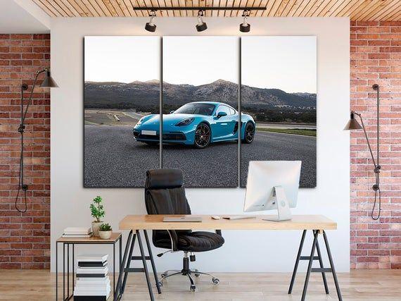 Porsche Canvas Cayenne Decor Muscle Car Porsche Car Art Engine Etsy World Map Decor Decor Gaming Wall Art