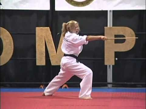 Becca Ross Bo Kata 2009 Compete Nationals Karate Tournament