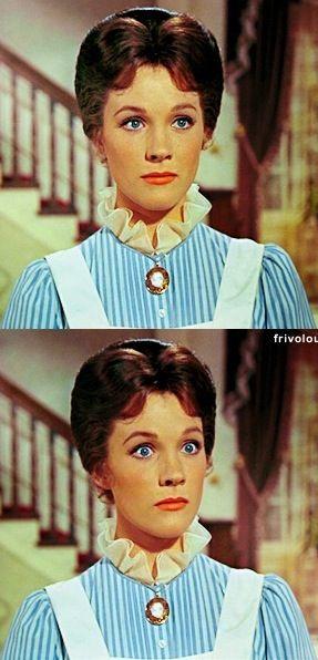 Julie Andrews as Mary Poppins. Costume Designer: Tony Walton