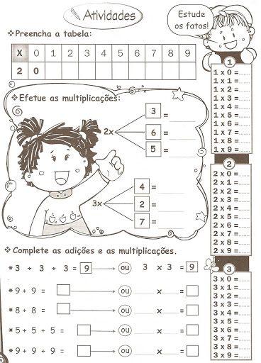 Nosso Espaço da Educação: Matemática - Atividades de Matemática 3º ano