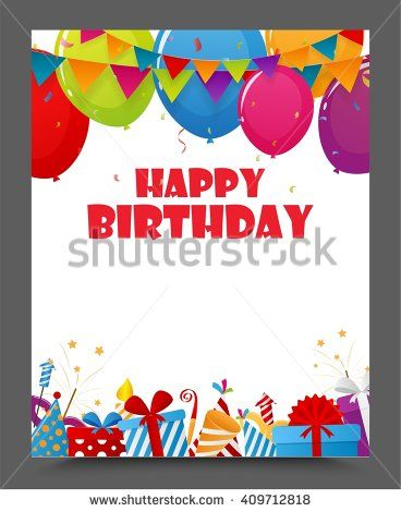 Birthday celebration party card design