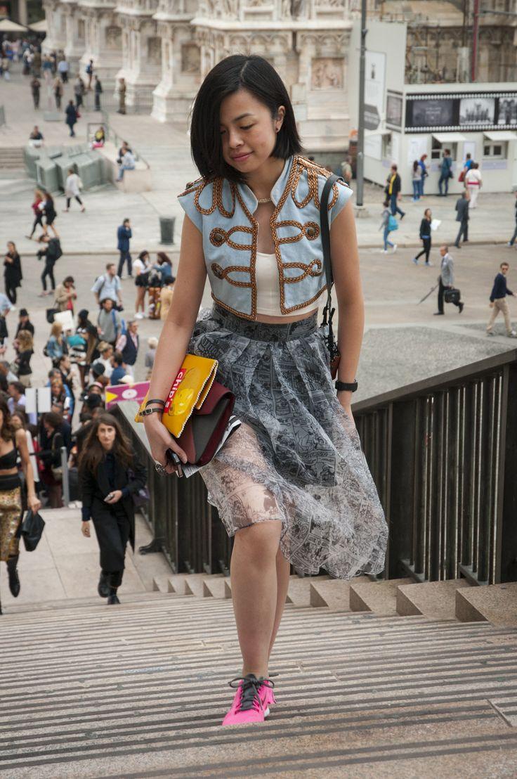 Female Fashion Week SS15 - people @ Uma Wang show