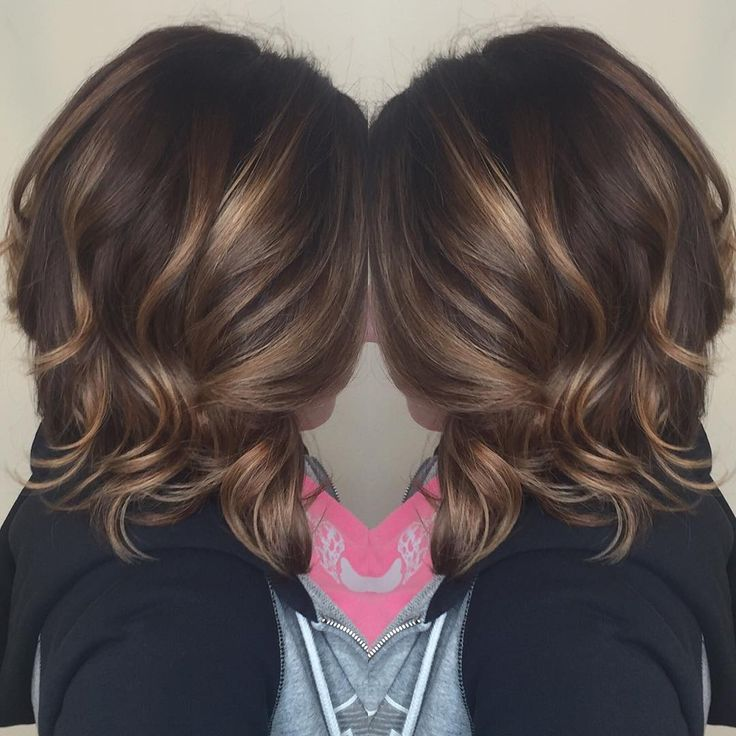 #brunette #balayage #caramel #highlights #lob #curls #hair #style #color #curls #chocolate for more looks like this click the link to view Instagram profile,
