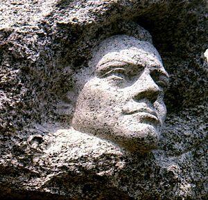 Jean Moulin-Monument d'Aix-les-Bains œuvre de Marcel Mayer
