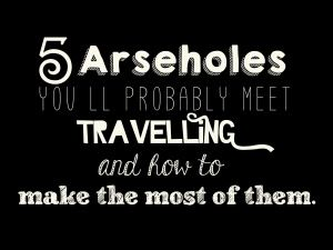 How to make the most of 5 arseholes you'll probably meet... http://lucysmilesaway.com/2014/03/07/5-arseholes/