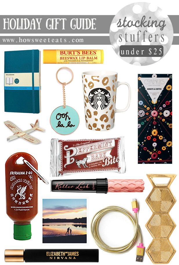 holiday stocking stuffer gift guide (under $25!!) I howsweeteats.com
