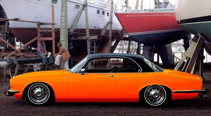 Jaguar XJ Coupe- One of the most beautiful Jags, but not in orange.