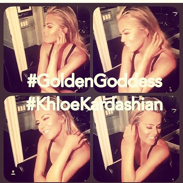 Can't cope with how 🔥 @khloekardashian looks wearing #cocoabrown #goldengoddess 💫 @joycebonelli your work is 🙌