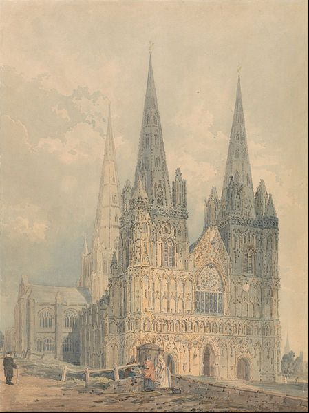 Lichfield Cathedral, Staffordshire, 1794 (Yale Center for British Art, New Haven, USA)