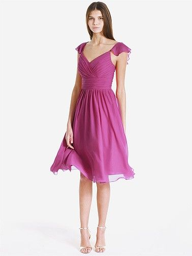 Pleated Chiffon Bridesmaid Dress   Plus sizes available! You can even custom dress color with them!