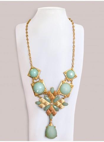 Satine Necklace in Seafoam