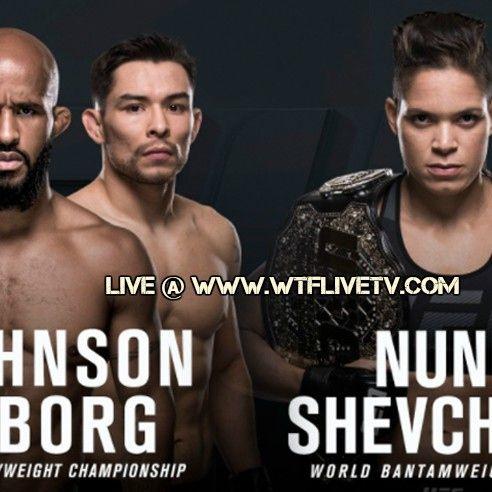 Watch UFC 215: Johnson vs. Borg Online Live Stream In 4k Ultra HD Quality Using WTFLIVETV Web Or APP  UFC 215 Live Stream ufc logo  UFC 215: Johnson vs. Borg Event Detail: Date: 9 September 2017  Time: 10 PM Main Card,8.30 PM Prelims,5.30 PM Early Prelims ( Whole Card Available AT WTFLIVETV )  Venue: Rogers Place,Edmonton, Alberta  TV Listing: WTFLIVETV (World Wide)UFC,Dish,Cox,Direct,Sky UK,BT Sports UK,Foxtel AU  UFC 215 Countdown: Amanda Nunes vs. Valentina Shevchenko 2 Video