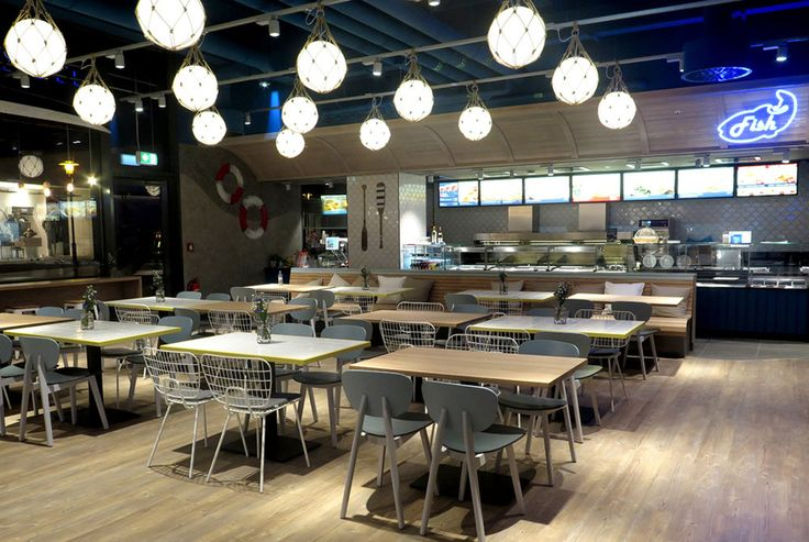 Projects featuring ZERO products. Fixture: Fisherman with natural net. Project: Nordsee Restaurant, Bielefeld Germany. Photo: Nordsee GmbH. #zero #projects #lighting #fisherman