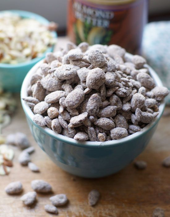 Healthier Puppy Chow (a.k.a. Muddy Buddies) This recipe is grain-free and vegan, but just as addictive as the original!