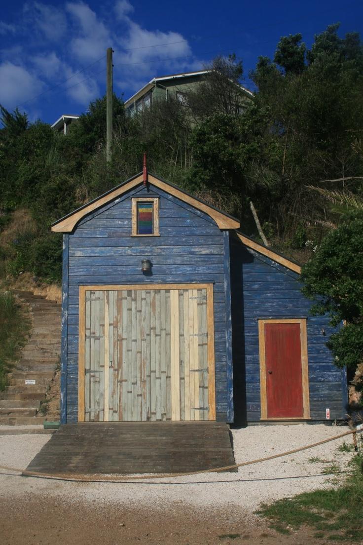 Waiheke Island - boat shed coolness