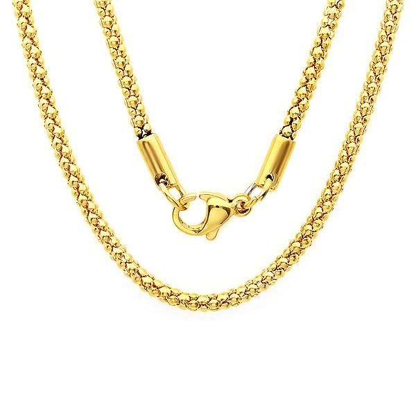 """Ladies 18k gold plated stainless steel chain 30"""""""