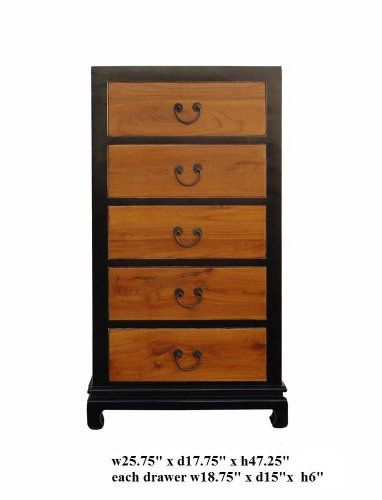 lacquered dresser | Click To Fusion Black Brown Lacquer 5 Drawers Dresser As1039 Details ...