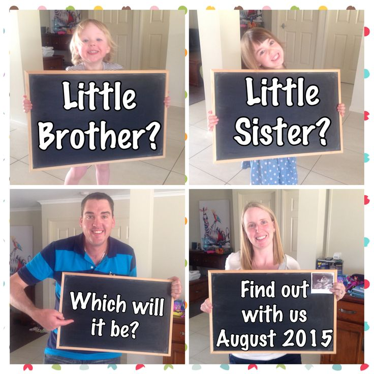 Pregnancy announcement for Baby 3J