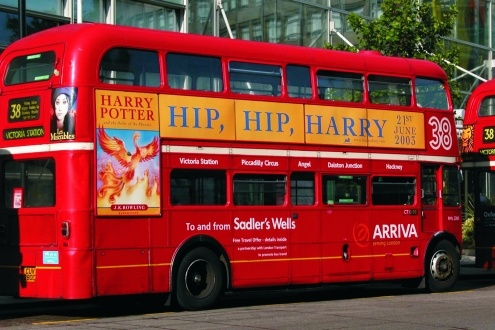 Ahhh, nothing better than a Harry Potter, double -decker bus in London!