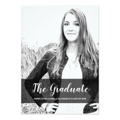 Sophisticated Graduation Photo Invitation - graduation invitations party grad cards