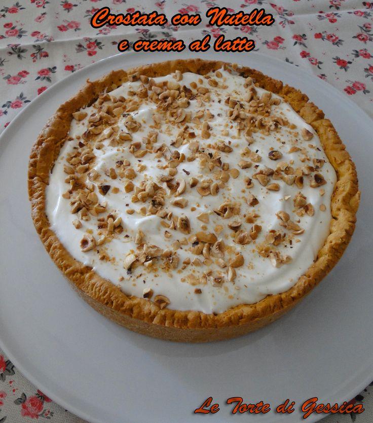 Crostata+ripiena+di+Nutella+e+crema+al+latte+-+tipo+Kinder
