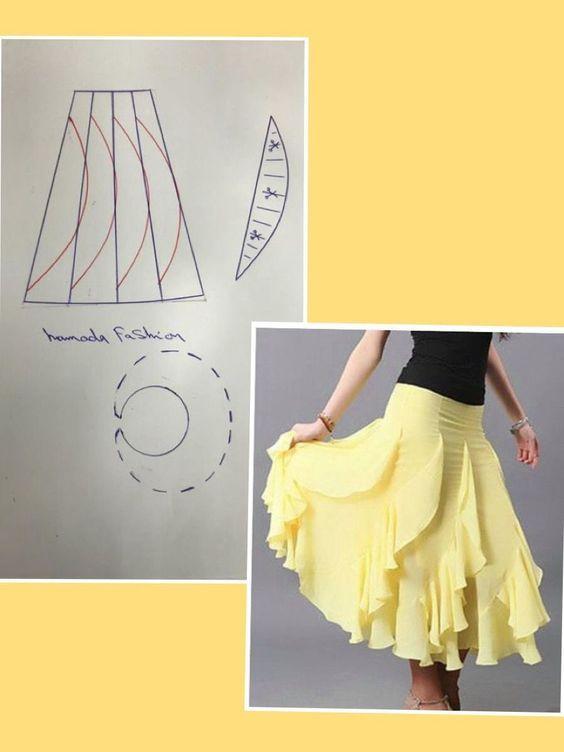 c4f5a60ea Mas moldes de Faldas #costura #patrones #sewing #skirt ...