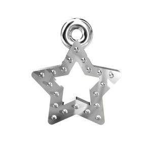 SILVER S-CHARM 0118 - STAR SIZE:Dimensions: Hight - 14,6 mm Width - 9,8 mm  Available options: AG 925 (18K- Rose Gold Plated) AG 925 (24K- Gold Plated) AG925 ( BRH- Black Rhodium Plated) AG 925 (RH- Rhodium Plated)