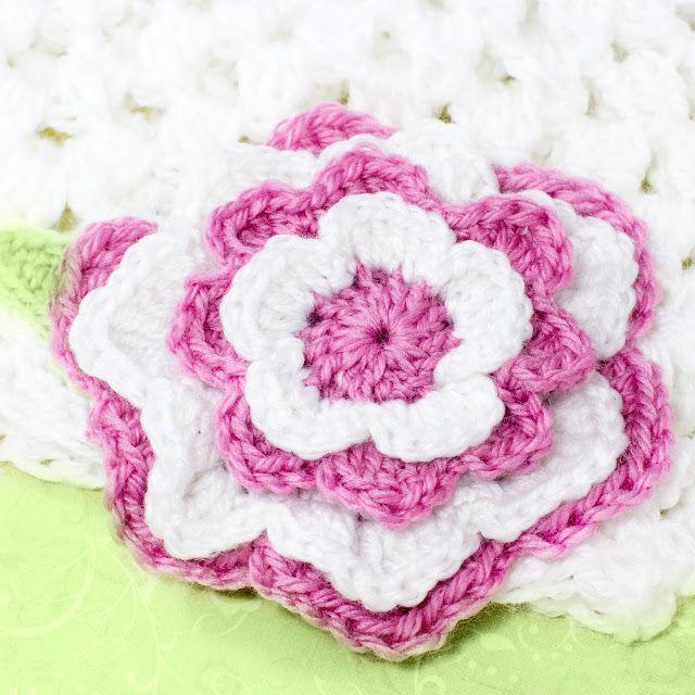 Easy Layered Crochet Flower Pattern Pakbit For