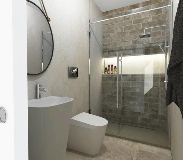 Lavori in casa ristrutturare il bagno. Mini, con maxi doccia