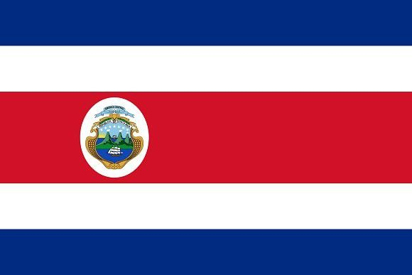 Vector of Costa Rican flag.. Banner