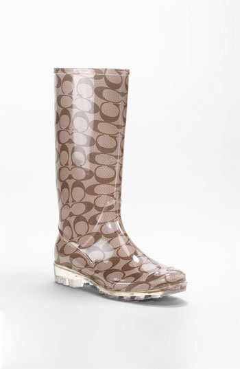 coach rain boots - yes