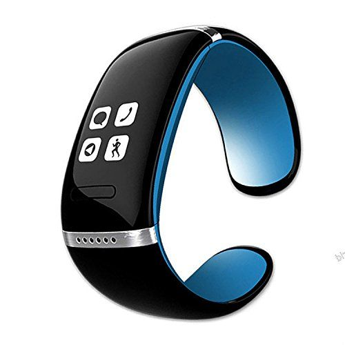 Komiro L12S Blue Bluetooth Smart Bracelet Wristwatch for Iphone and Android Phones. Multi medias for playing music and sound recording. Hourly chime function. Steps tracking, test distance and calorie. Vibration massage for wrist.We suggest make it charge about 2 hours before using. Message sync with mobile phone(Only for Android System). Phone book and call reminder. With OLED display and arc capacitive touch screen. With USB port to charge through PC and mobile driver. Suitable for…