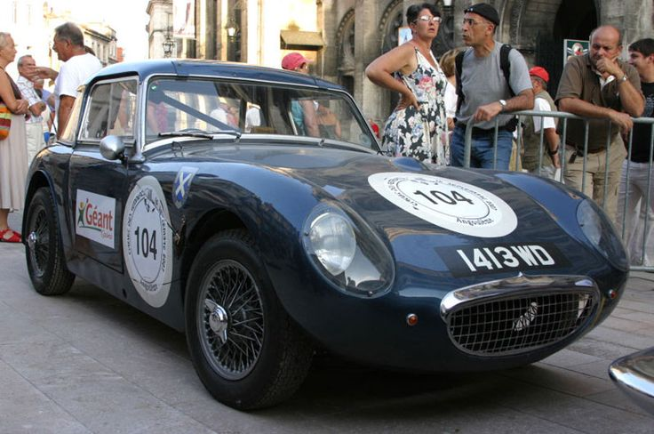1413 WD .. Lightweight Sprite built by Donald Healey for 1961 Sebring races registered as 8427 UE , in 1961 it was reregistered as 1413 WD , painted midnight blue for Ecurie Ecosse to race at Le Mans , the car rolled at white house and was badly damaged ,