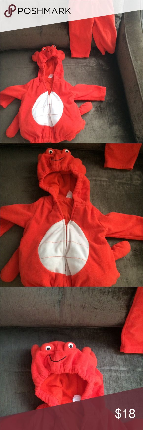 Baby lobster costume Very soft warm lobster costume Carter's Costumes Halloween