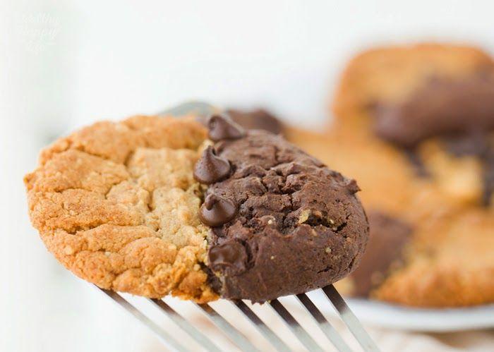 半々クッキー:ピーナッツバターブラウニー。 ビーガン。 これらを試してみる!
