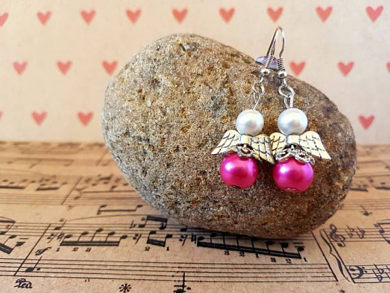 Check out this item in my Etsy shop https://www.etsy.com/au/listing/540208993/angel-earrings-pink