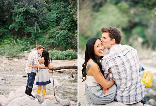 A Fishing Engagement Shoot | Green Wedding Shoes Wedding Blog | Wedding Trends for Stylish + Creative Brides